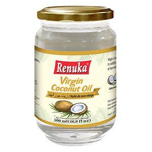 Масло кокосовое ПЕРВОГО ХОЛОДНОГО ОТЖИМА «Extra Virgin», 500 мл Renuka  (в стеклянной бутылке)Шри-Ланка