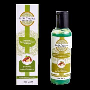 Vedik Essence Бабассу и браз.орех шампунь травяной с кератином для восстан. волос 200ml (SLS FREE) Индия