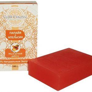 Мыло Папайя и апельсин 100г. мыло ручной работы Индия