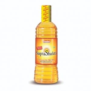 Масло кунжутное пищевое Питамбари (холодный отжим, нерафинированное) Sapta Shakti Sesame Oil Pitambari 500 мл.
