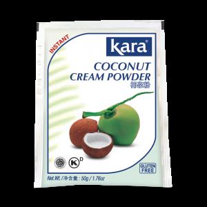 Кокосовый Порошок, Kara Coconut Cream Powder, 50 г — для приготовления молока, сливок, выпечки